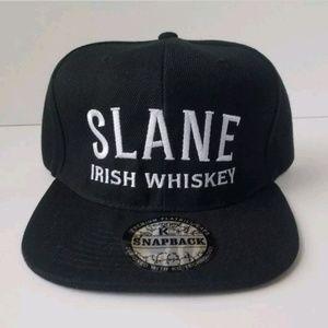 SLANE IRISH WHISKEY Black Snapback Adjustable Hat